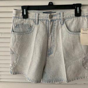 Vintage Denim Shorts Size 8 80s 90s grunge